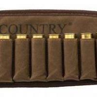 Cartouchie re country sellerie aspect velours avec calibre 12 et 6 balles