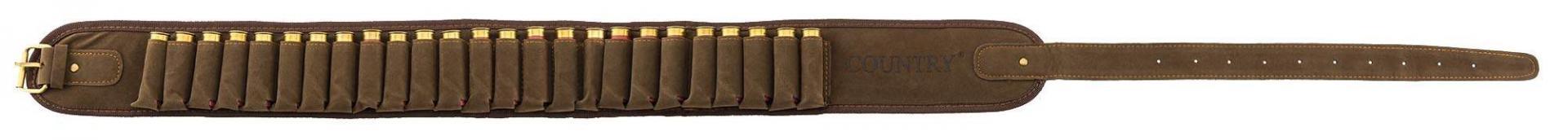 Cartouchie re country sellerie aspect velours avec calibre 12
