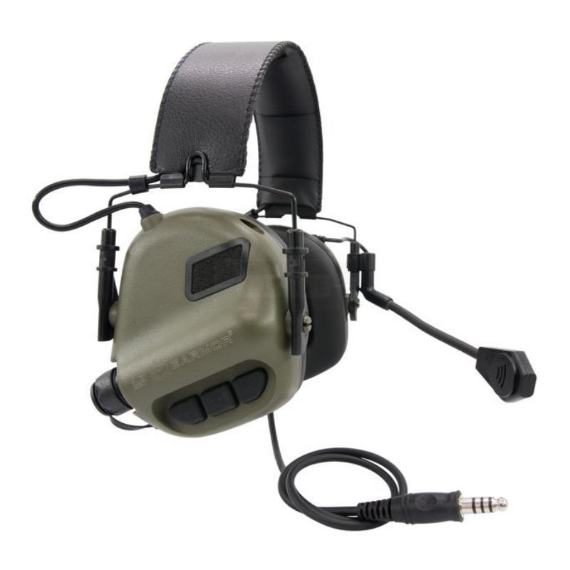Casque e lectronique earmor m32 kaki avec micro communication