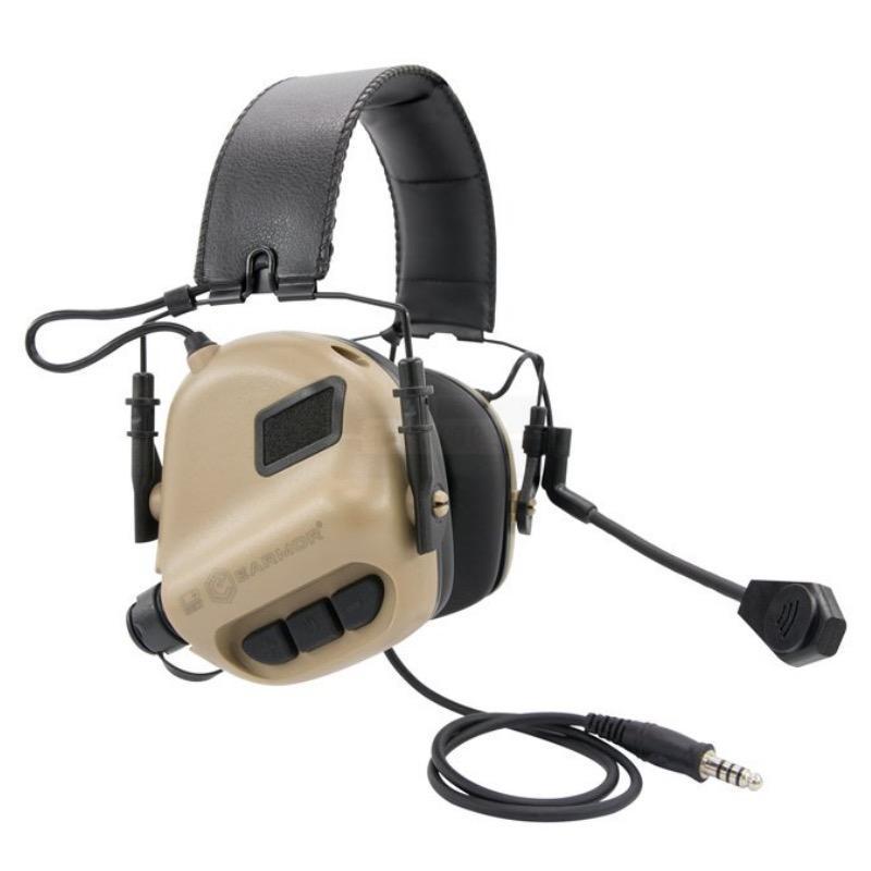 Casque e lectronique earmor m32 tan avec micro communication
