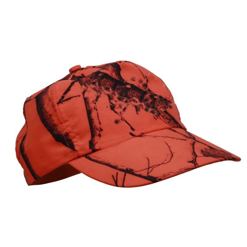 Casquette avec camouflage feuille orange fluo marque stepand