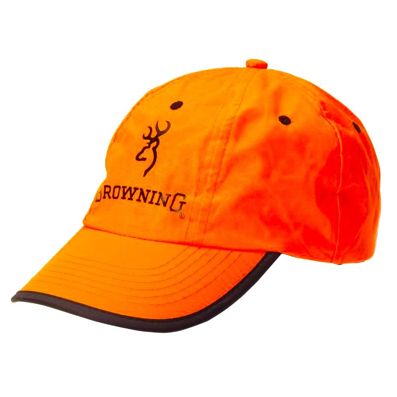Casquette browning orange fluo toile pas che re pour chasse