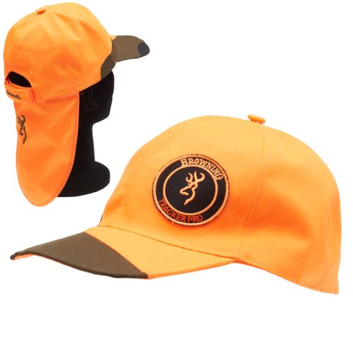 Casquette browning tracker pro verte orange pour chasseur