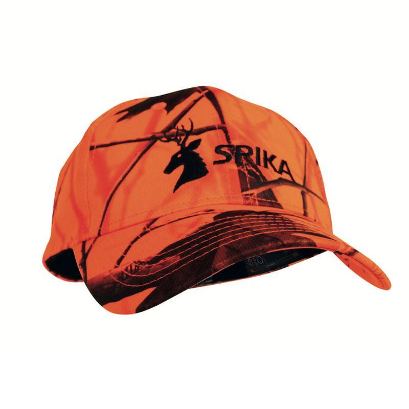 Casquette de chasse camo orange haute visibilite spika