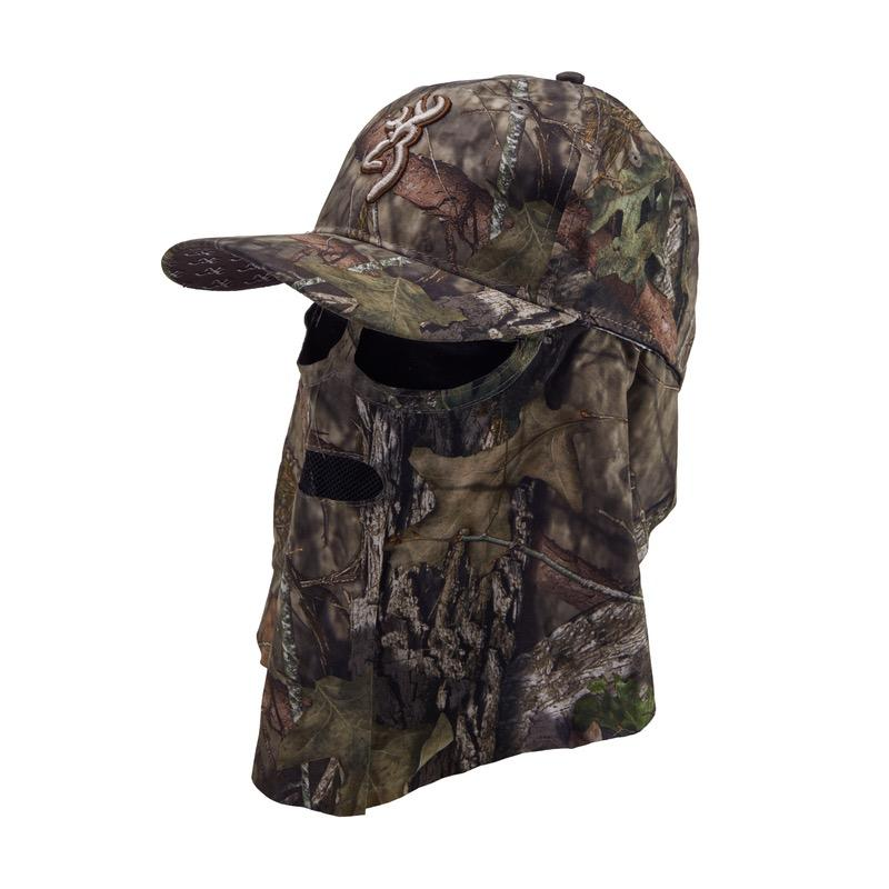 Casquette de chasse camouflage browning facemask mobuc