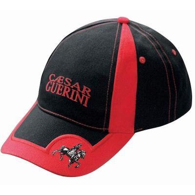 Casquette Caesar Guerini noir et rouge