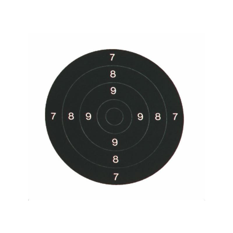 Centre de carton cible 21x21 cm x 100 arme de poing 50m