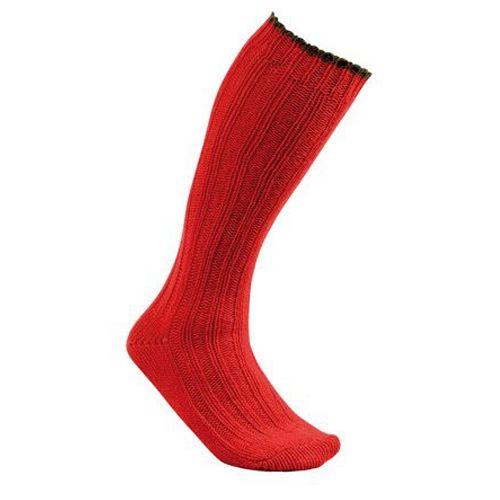 Chaussette en laine club interchasse natun rouge courte 5 couleurs