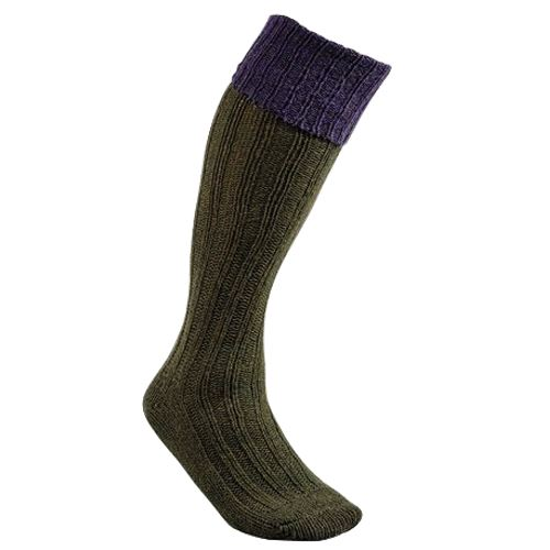 Chaussette knickers en laine chaude club interchasse natun violet