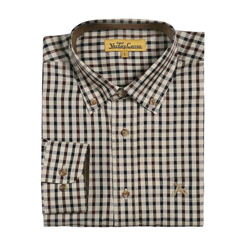 Chemise verney carron vivien a carreaux en coton avec poche
