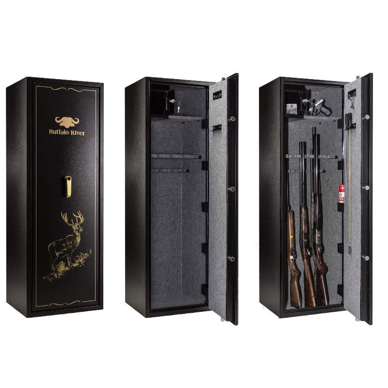 Coffre fort 18 fusils carabines a cle buffalo river premium