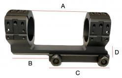 Collier 34mm monobloc dimensions