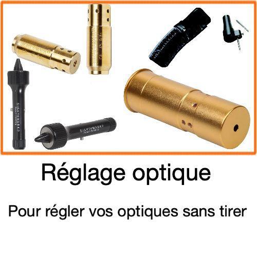 Collimateur et laser de reglage pour optique