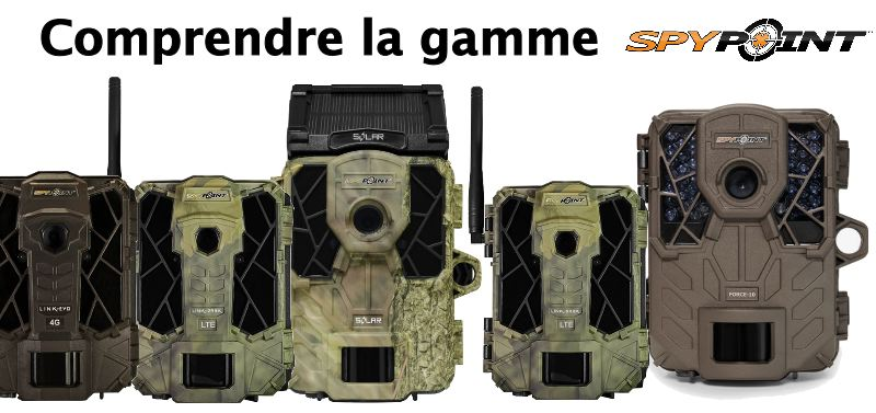 Comprendre la gamme spypoint 1