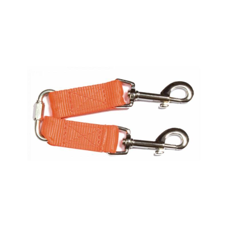 Coupleur laisse accoupleur 2 petits chiens solide orange nylon