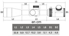 Dimensions lunette athlon talos 4 14x44