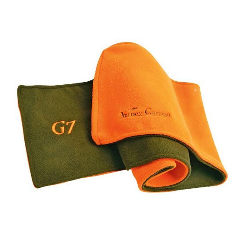 Echarpe fourreau verney carron super scarf en polaire vert