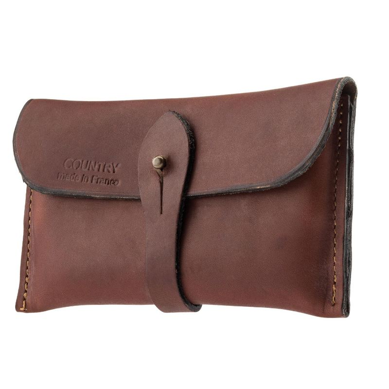 Etui cartouchie re 7 9 mm country sellerie cuir gras marron