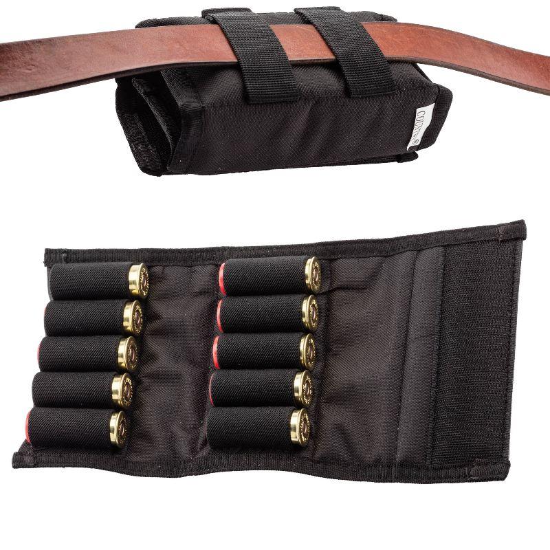 Etui cartouchie re de ceinture noir pour cartouche 12 ou 21