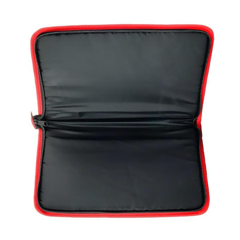 Etui rembourre pour arme de poing 35 x 22 cm noir et rouge1