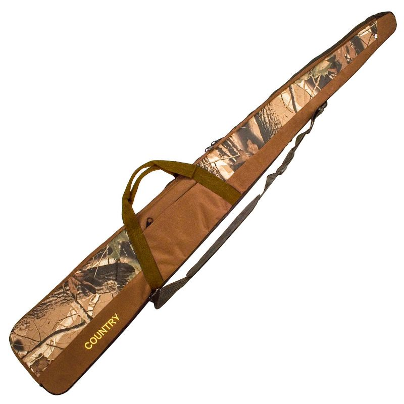 Fourreau a fusil 130 cm country sellerie camouflage marron