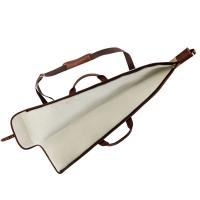 Fourreau a fusil country sellerie en imperwax et cuir 112 cm