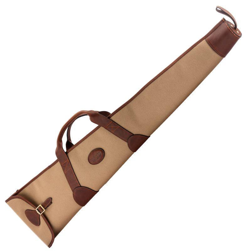 Fourreau a fusil country sellerie en imperwax et cuir 130 cm