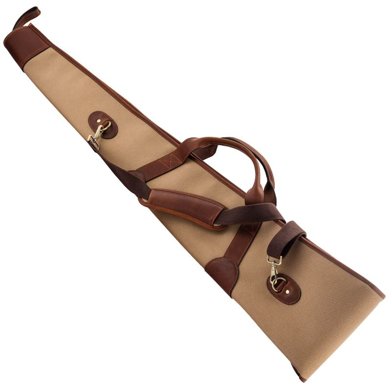 Fourreau a fusil country sellerie en imperwax et cuir 130 cm1