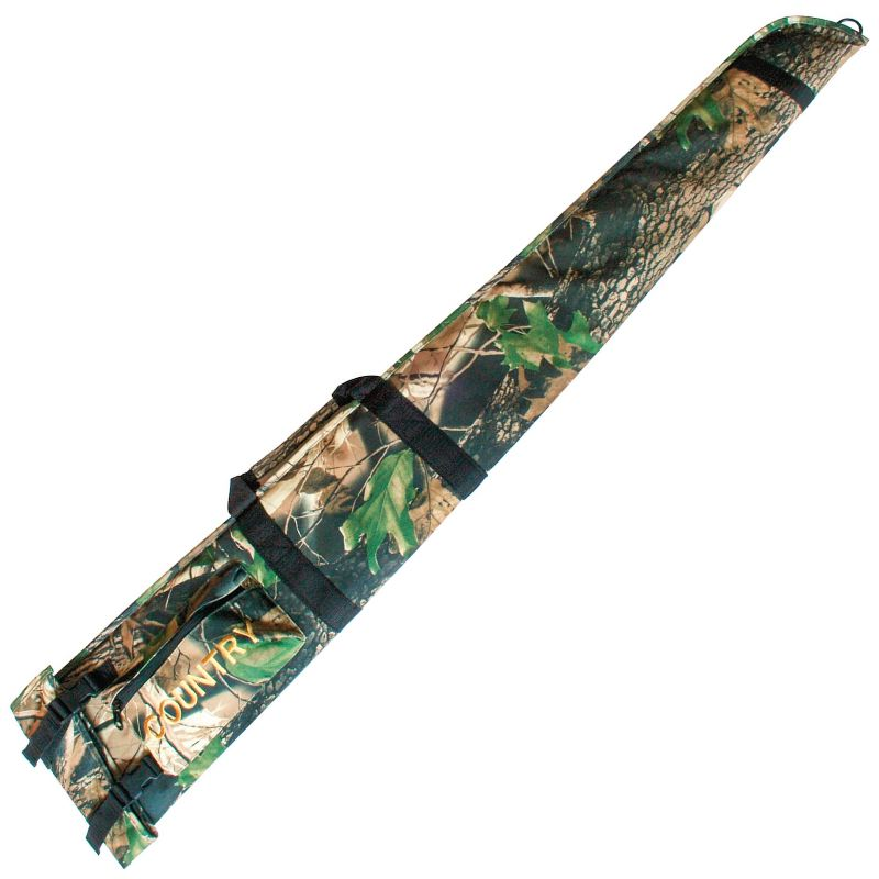 Fourreau a fusil de chasse country sellerie camo feuillage