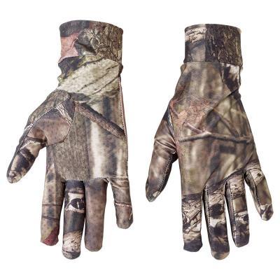 Gants de chasse fin pour tir facile stagunt camouflage fibre