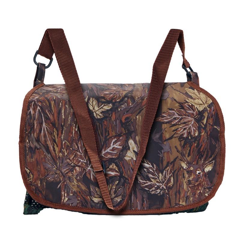 Gibecie re carnier en toile avec camouflage feuillage marron 1