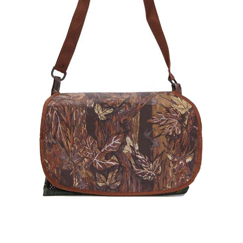 Gibecie re carnier en toile avec camouflage feuillage marron