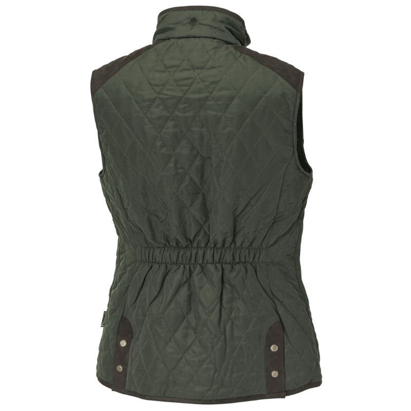 Gilet chasse coupe vent matelasse coupe femme pinewood vert1