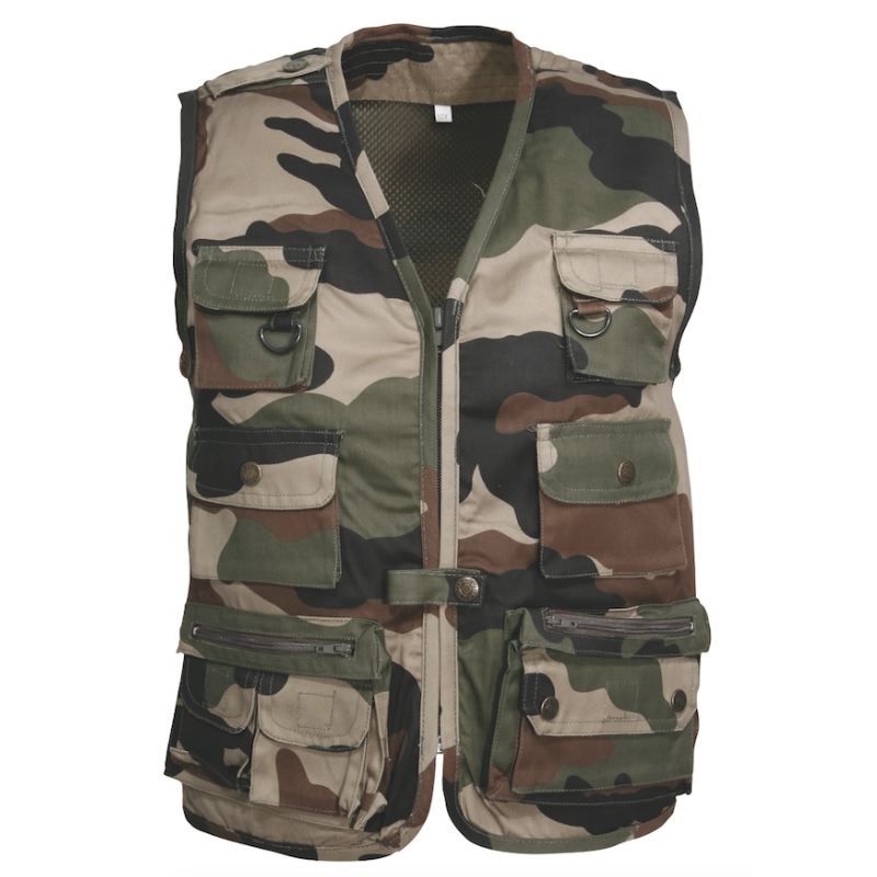 Gilet chasse enfant percussion camo ce chasseur compagnie