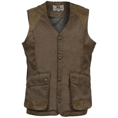 Gilet chasse percussion sologne marron imperme able respirant