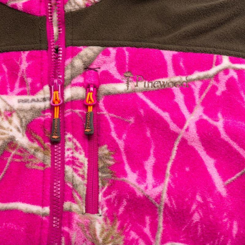 Gilet de chasse polaire coupe femme camo pinewood henrietta1