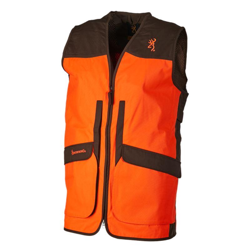 Gilet de chasse upland hunter hi vis 2 browning orange vert 1