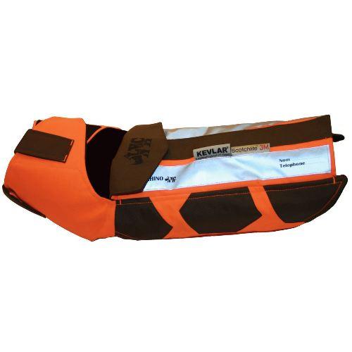 Gilet de protection chien de chasse verney carron rhino dog anti perforation avec kevlar chasseur et compagnie
