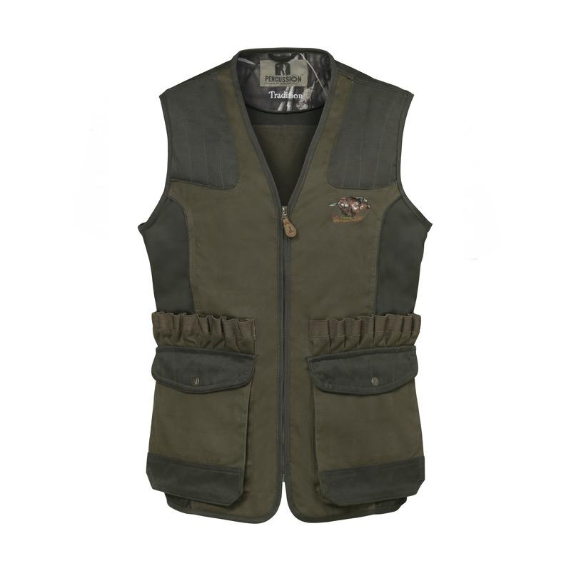 Gilet tradition broderie sanglier