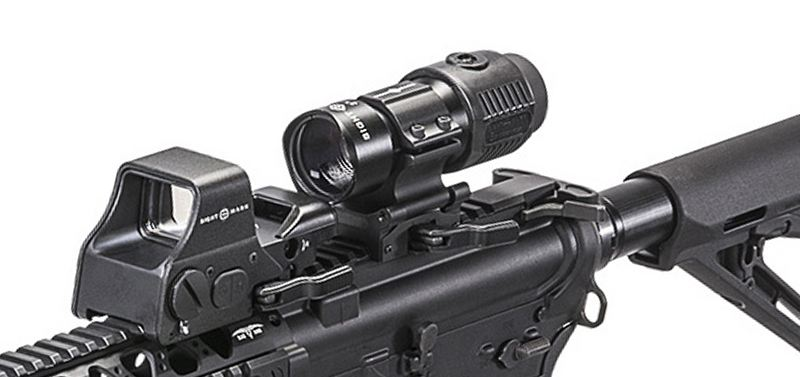 Gros plan magnifier sightmark 3x tactical et 5x tactical