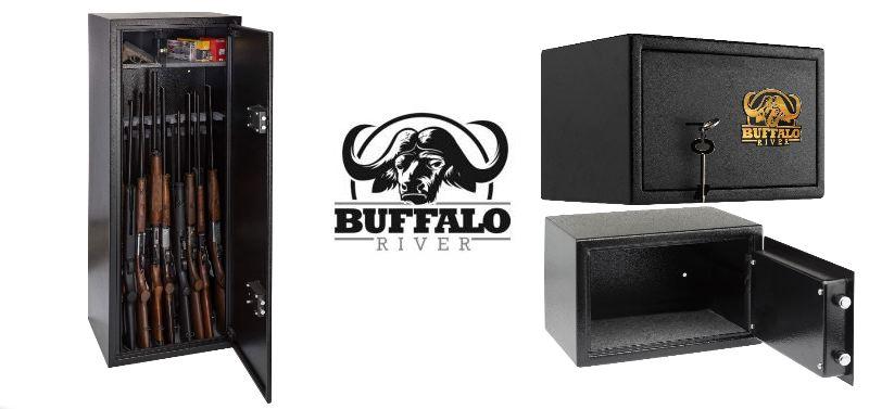 Gros plan sur gamme de coffre pour arme buffalo river