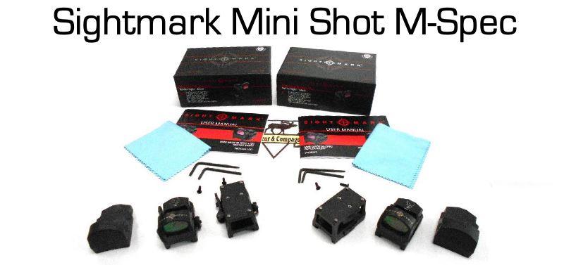 Gros plan sur le sightmark mini shot m spec