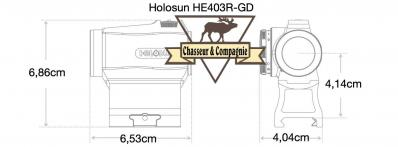 Holosun he403r gd dimensions