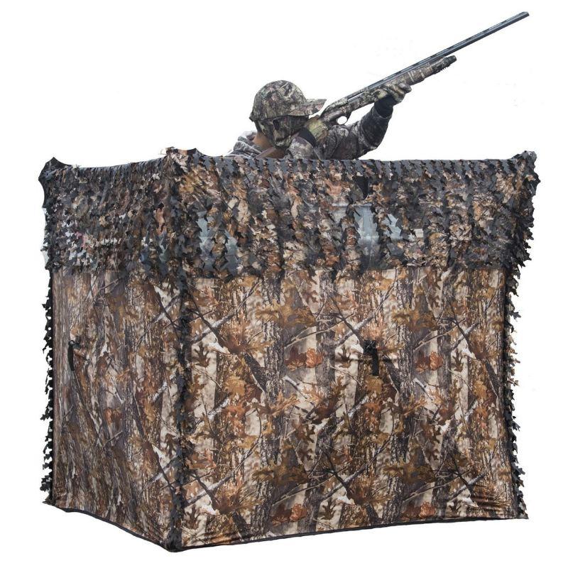 Hutte de sous bois a ouverture rapide pour chasse au poste