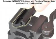 Installation adaptateur de rail 21mm sur 11mm