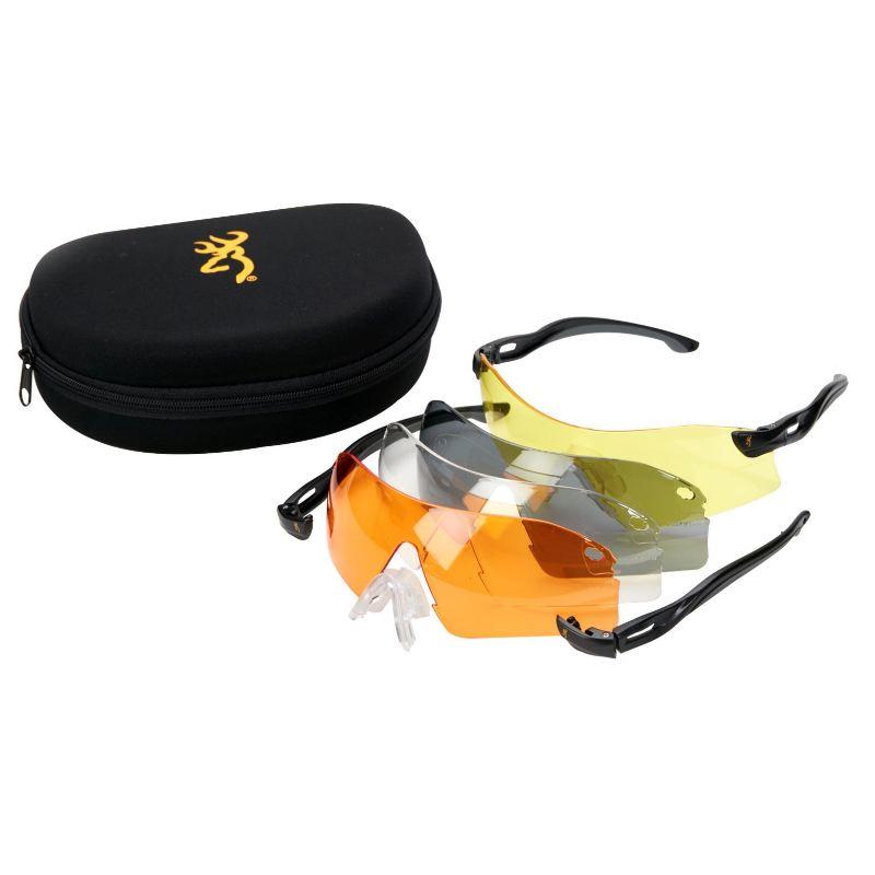 Kit lunettes browning eagle verres jaune noir blanc orange