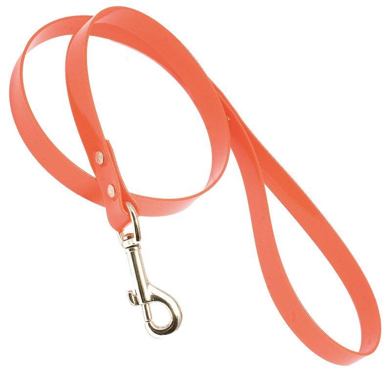 Laisse en hiflex orange fluo 1 05m pour chien de chasse