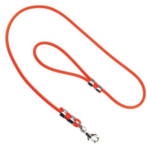 Laisse pour chien biothane orange tubulaire 90cm tre s solide