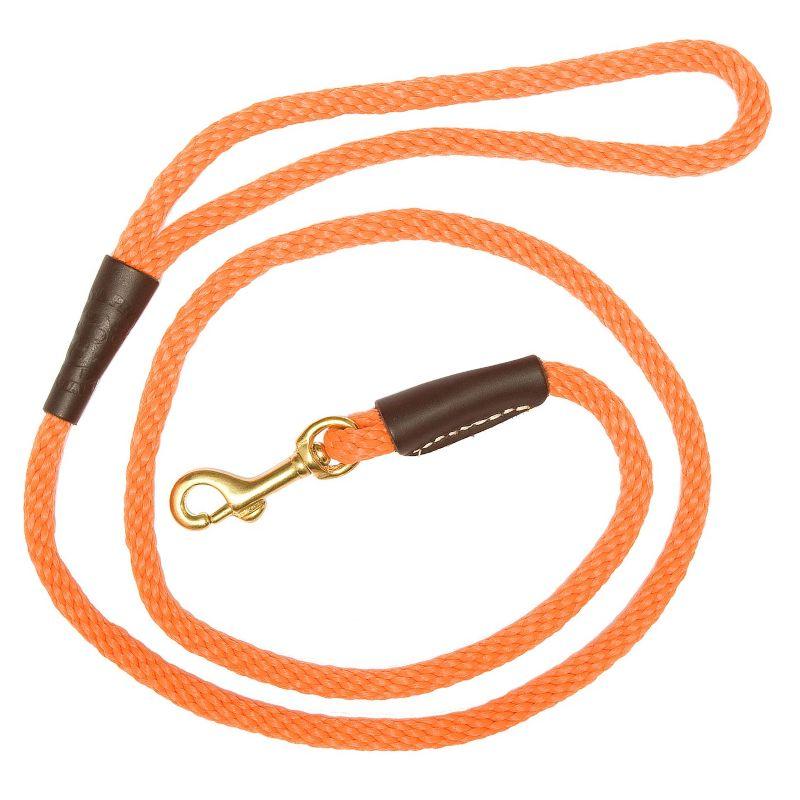 Laisse pour chien solide diame tre 1cm 10mm orange 120 180 cm