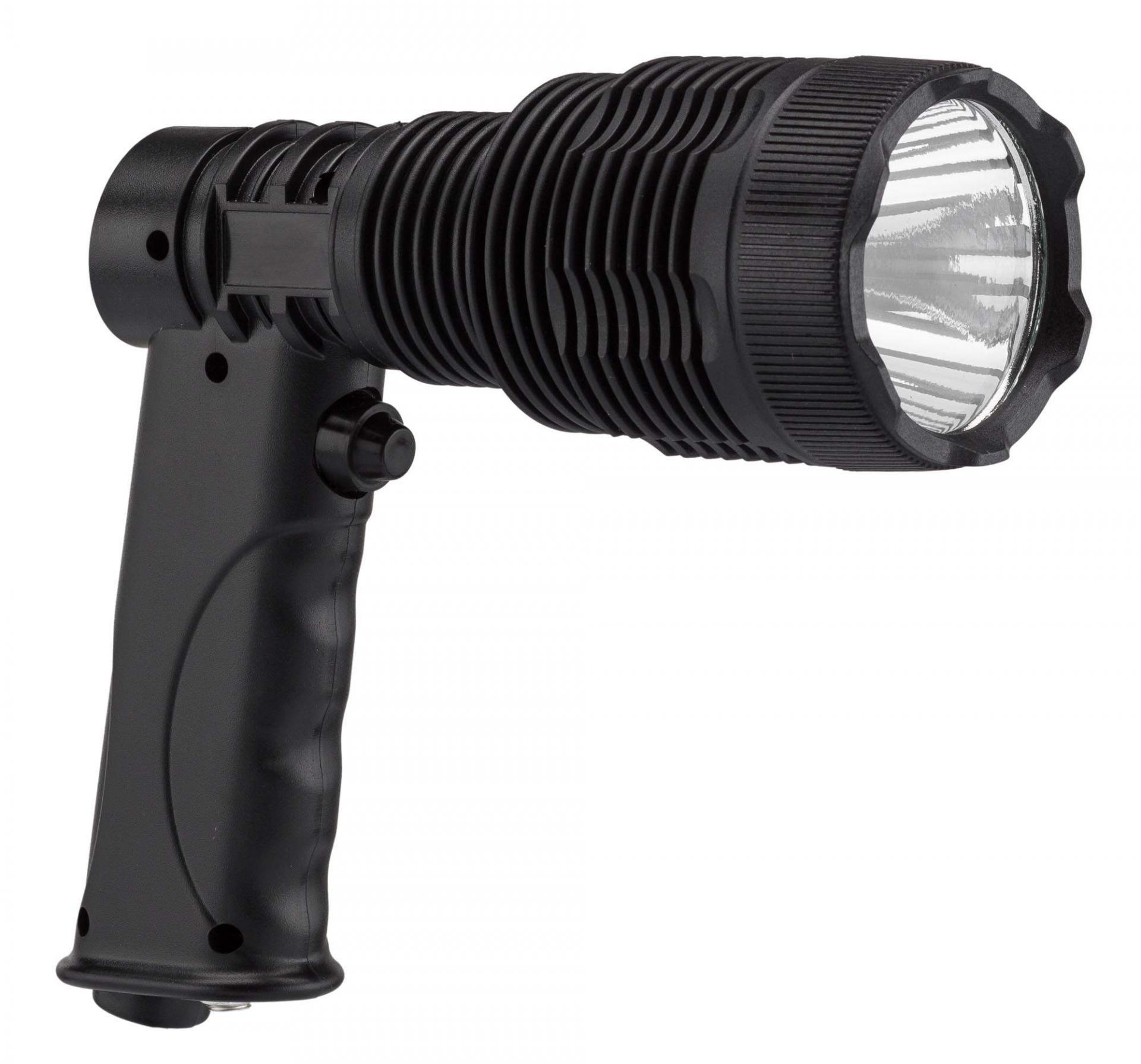 Lampe de poing type pistolet extra puissante parfaite pour hutte de chasse comptage des animaux foret nature en vente chez chasseur et compagnie